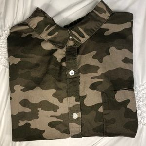 Camo Long Sleeve Button-Down